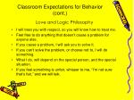 classroom expectations for behavior cont