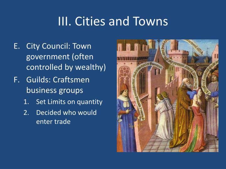 III. Cities and Towns