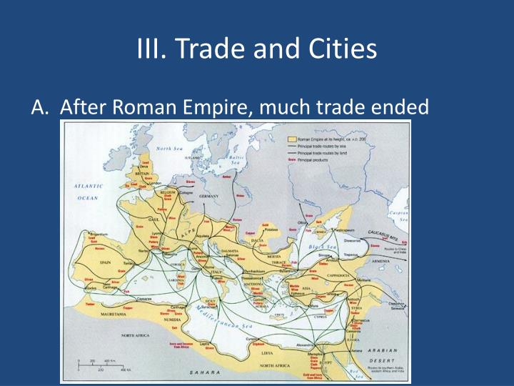 Iii trade and cities