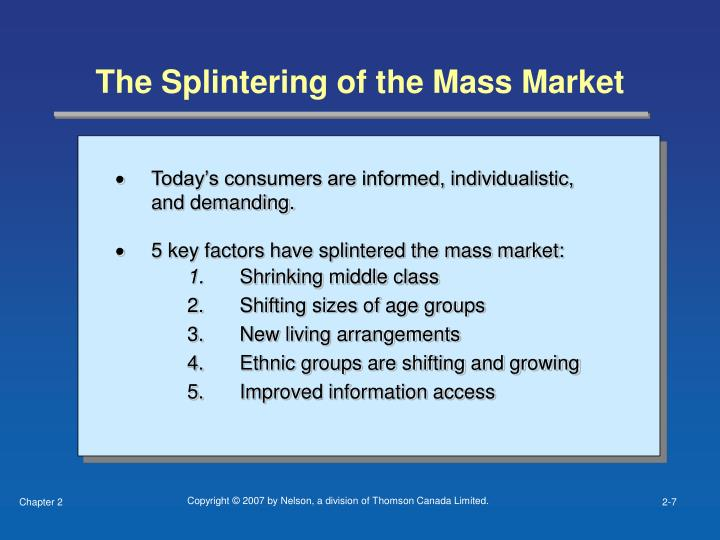 The Splintering of the Mass Market