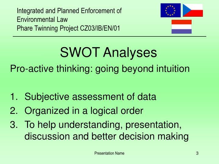 SWOT Analyses