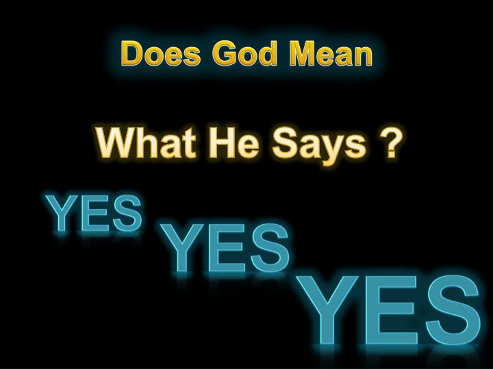 Does God Mean