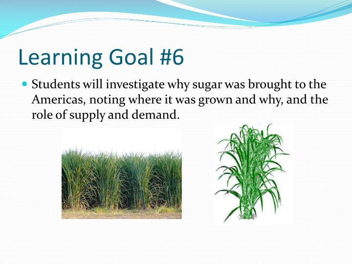 Learning Goal #6
