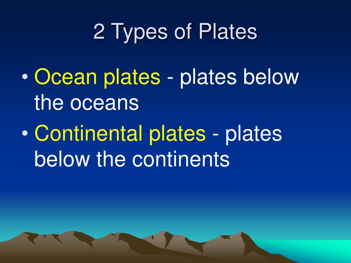 2 Types of Plates