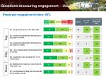 questions measuring engagement university overall