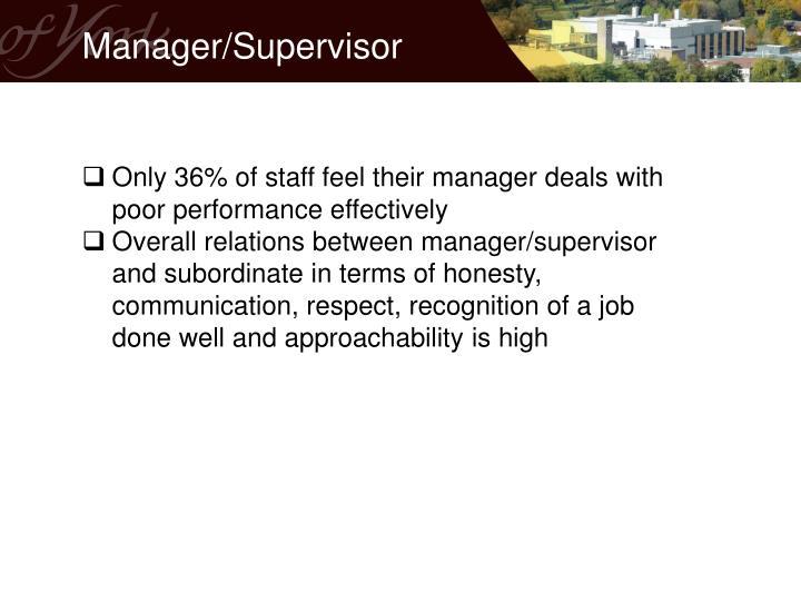 Manager/Supervisor