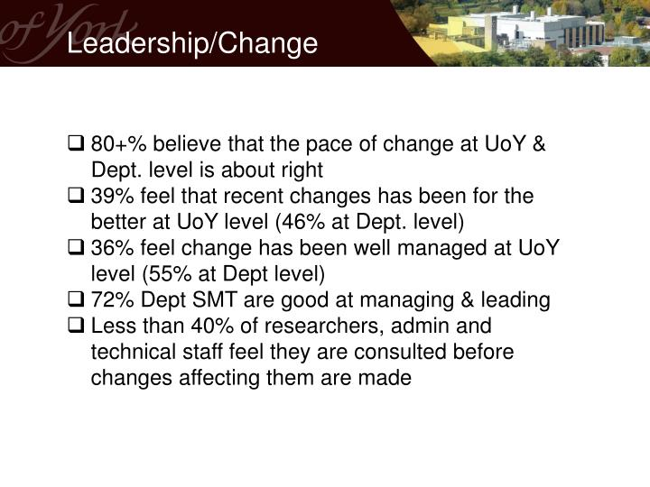 Leadership/Change