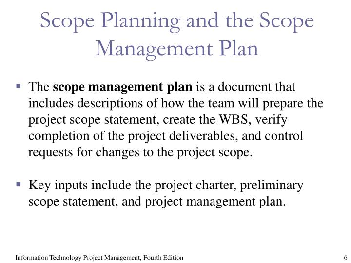 project charter scope management project planning Project charter project name requests and additions to the project scope are considered include scope and change management, keeping the project plan.