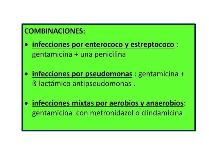COMBINACIONES: