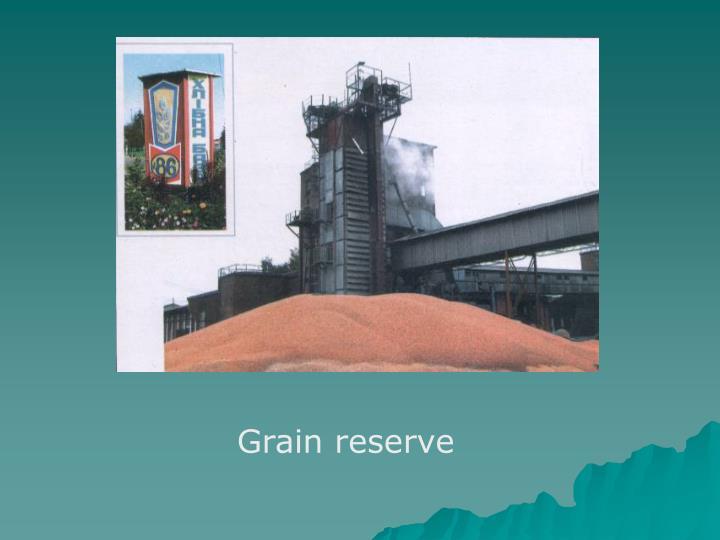 Grain reserve