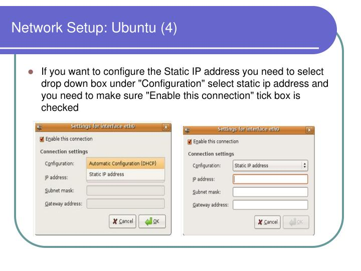 Network Setup: Ubuntu (4)