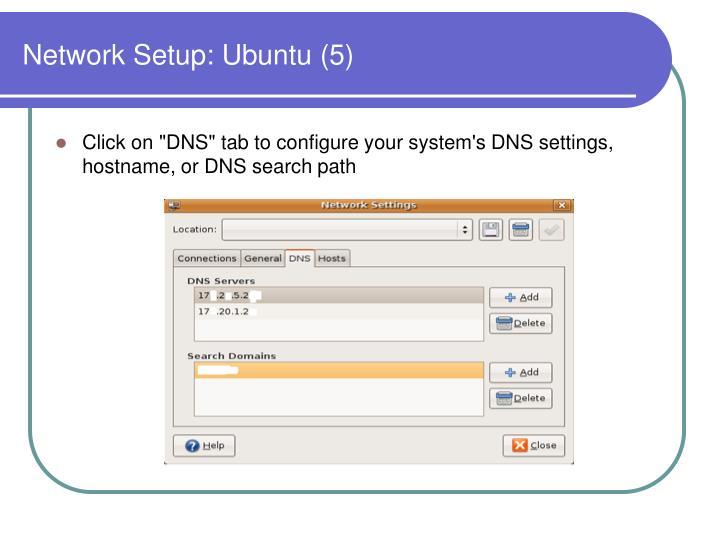 Network Setup: Ubuntu (5)