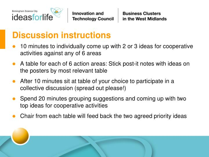 Discussion instructions