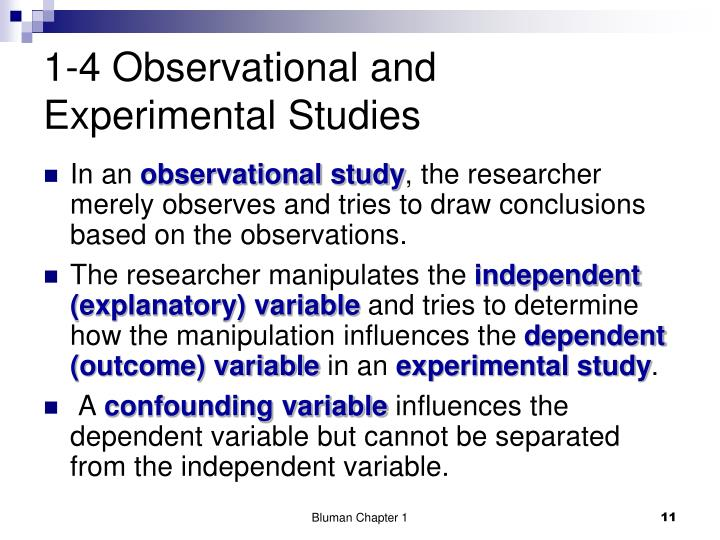 1-4 Observational and Experimental Studies