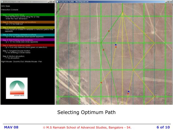 Selecting Optimum Path