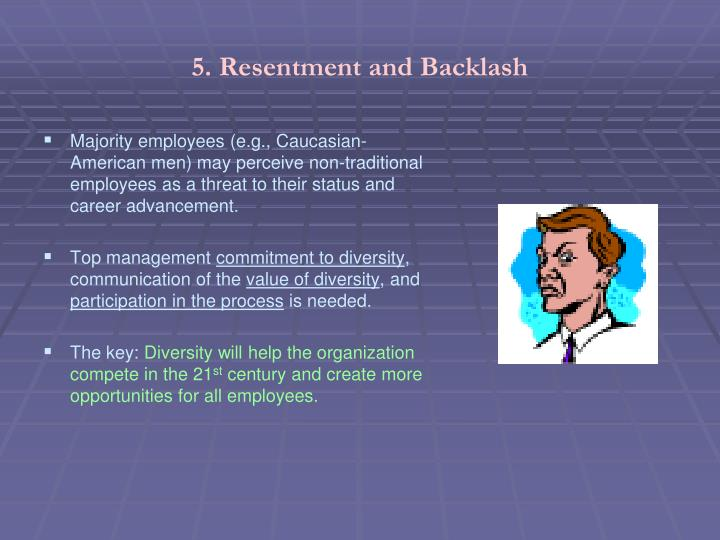 5. Resentment and Backlash