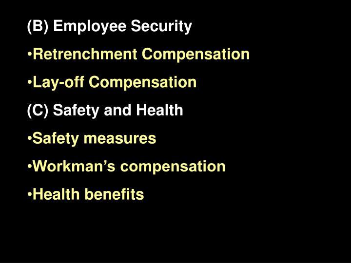 (B) Employee Security