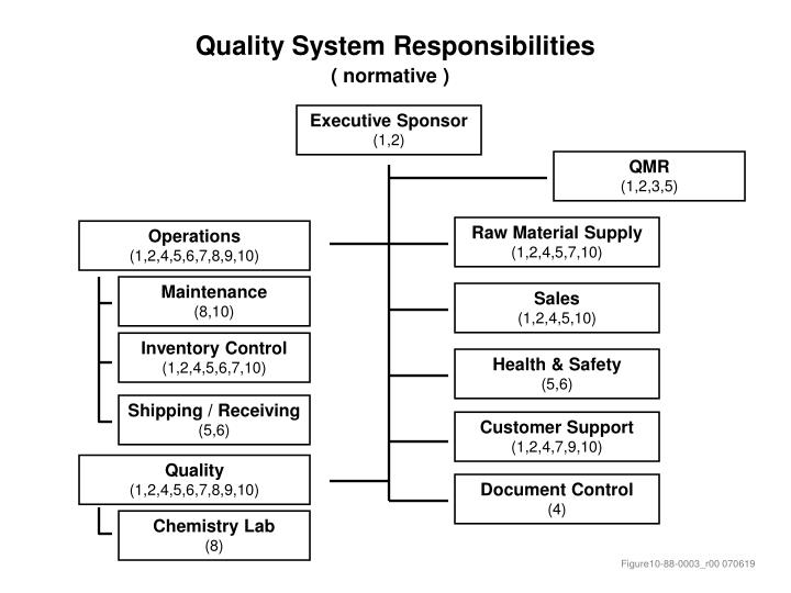 quality system responsibilities