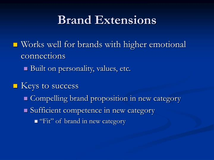 Brand extensions1