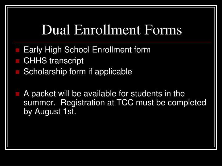 Dual Enrollment Forms