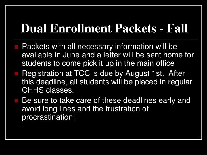Dual Enrollment Packets -