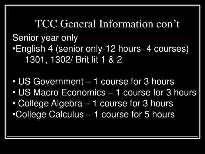TCC General Information con