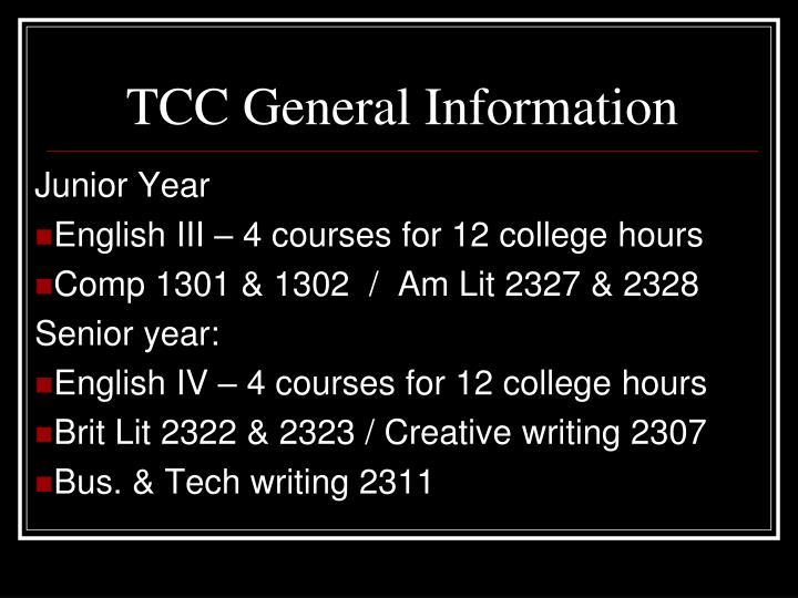 TCC General Information