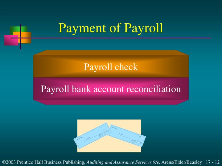 Payment of Payroll