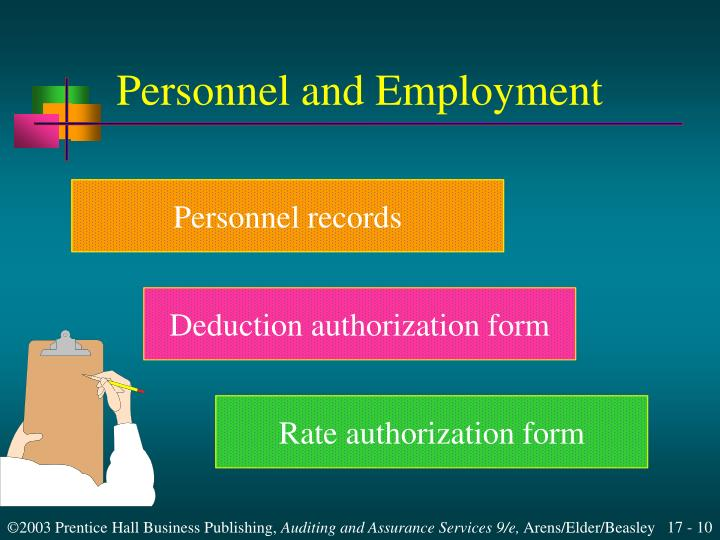 Personnel and Employment
