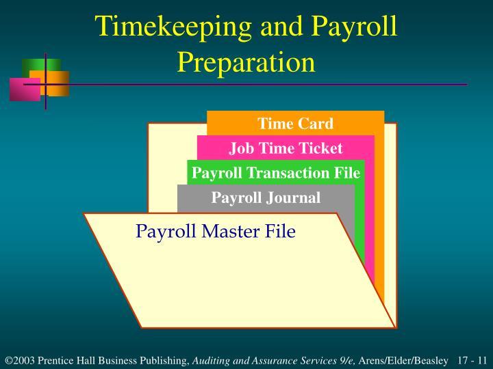 Timekeeping and Payroll Preparation