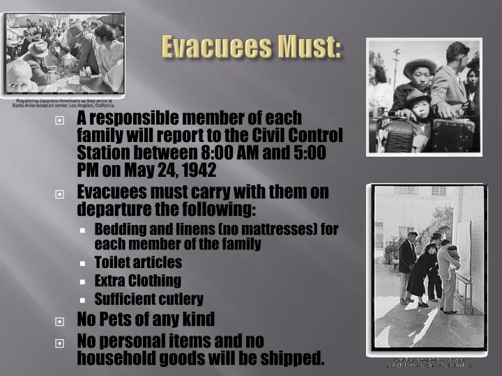 Evacuees Must: