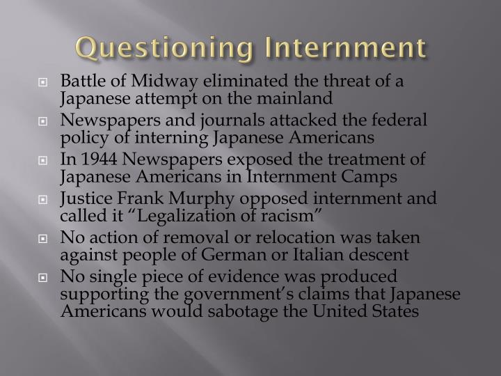 Questioning Internment