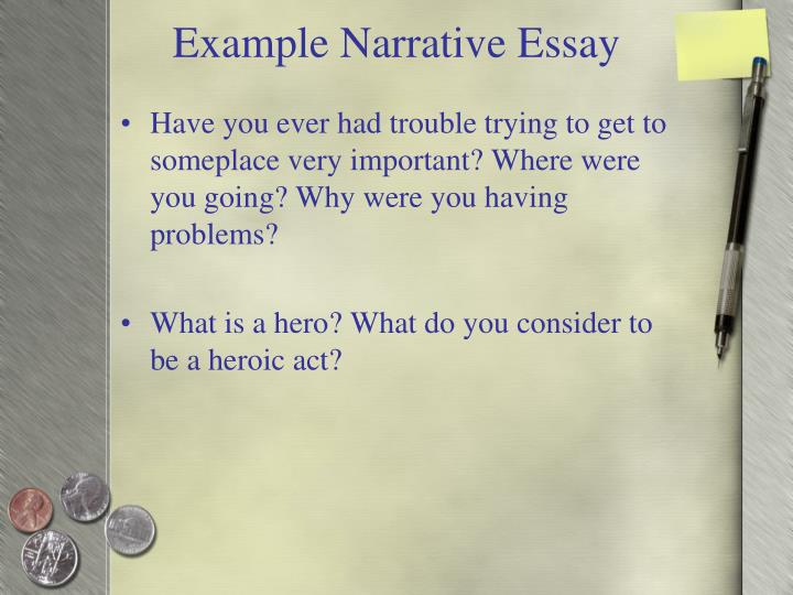 Example Narrative Essay