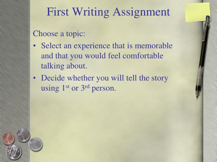 First writing assignment