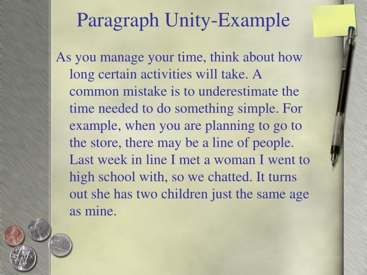 Paragraph Unity-Example