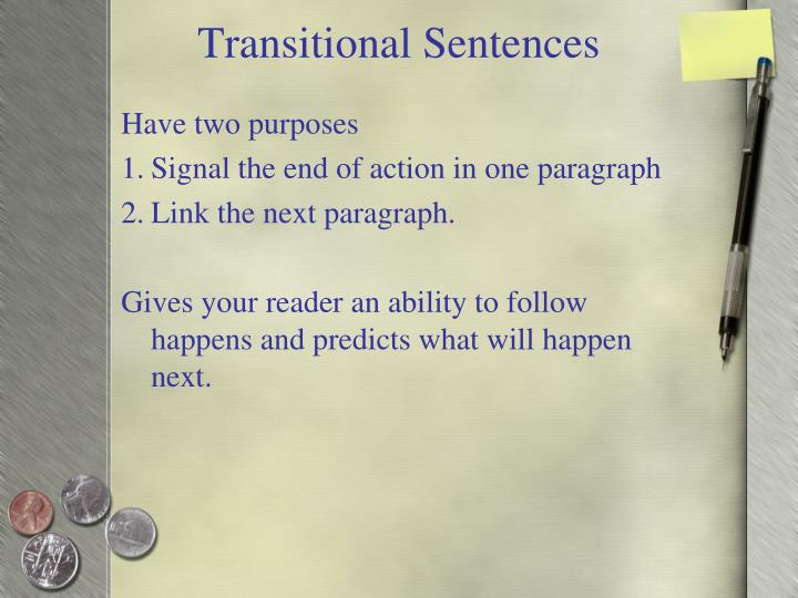 Transitional Sentences
