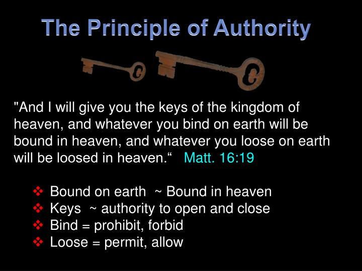 The Principle of Authority