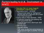 factors leading to u s involvement in wwii