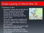 steps leading to world war ii1