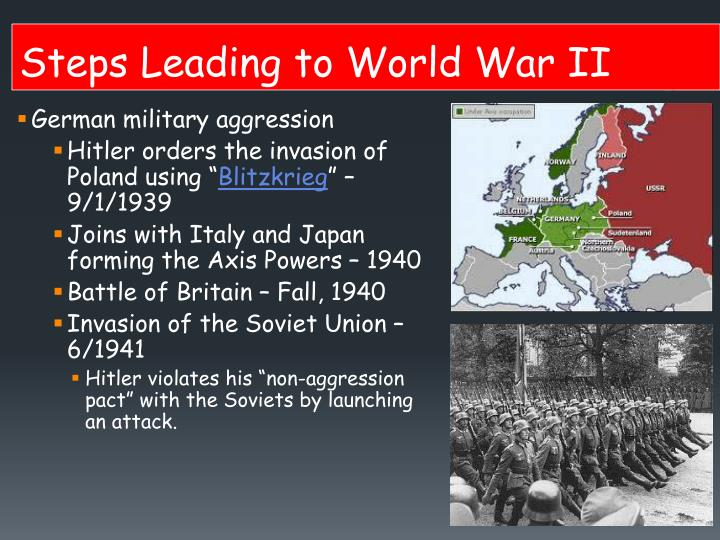 Steps Leading to World War II
