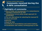 comments received during the a npa consultation1