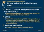 other selected activities on uav1