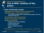 the a npa outline of the policy2