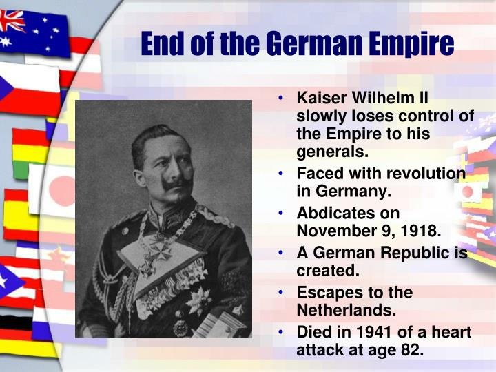 End of the German Empire
