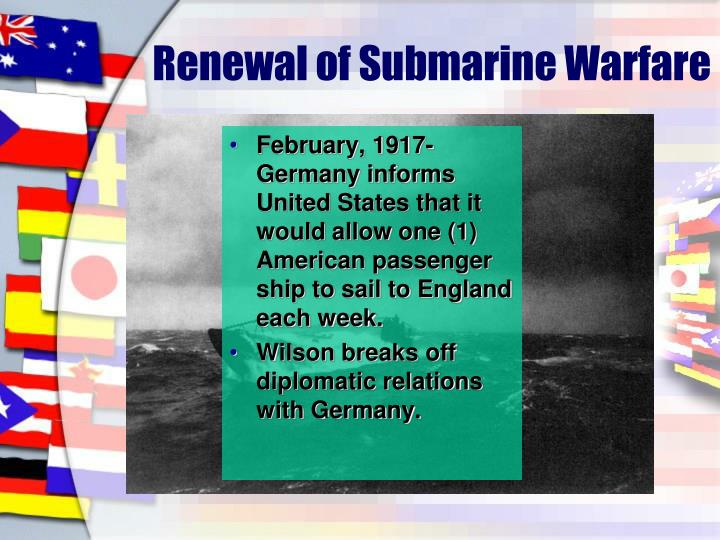 Renewal of Submarine Warfare