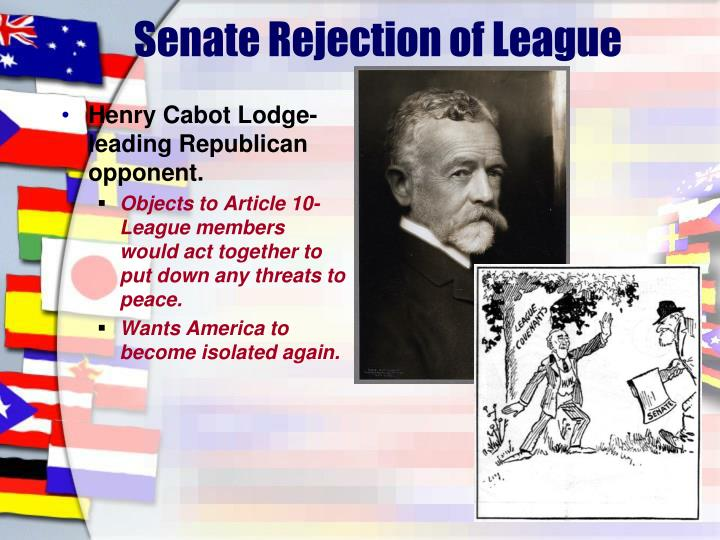 Senate Rejection of League