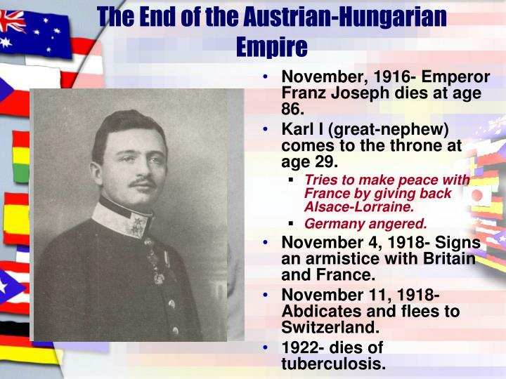 The End of the Austrian-Hungarian Empire