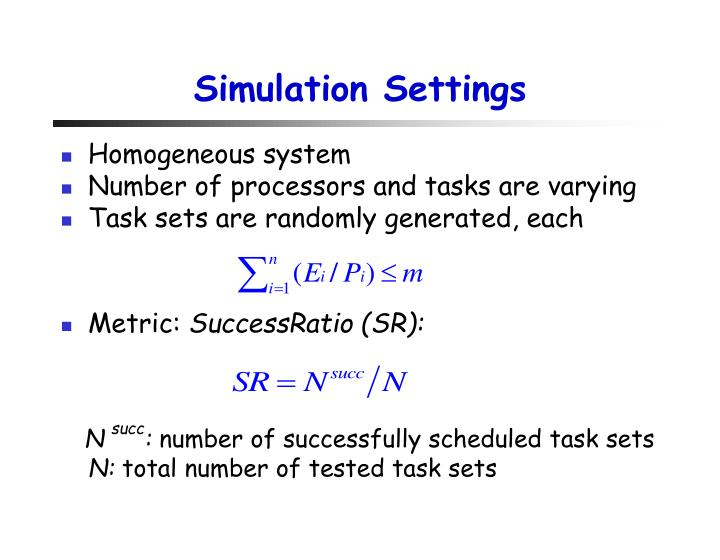 Simulation Settings