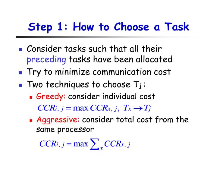 Step 1: How to Choose a Task