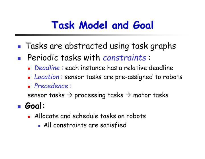 Task Model and Goal